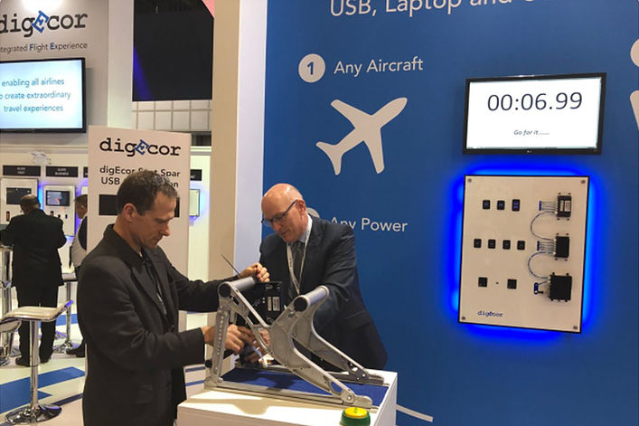 digEcor powers up a unique offer at Aircraft Interiors Expo 2018