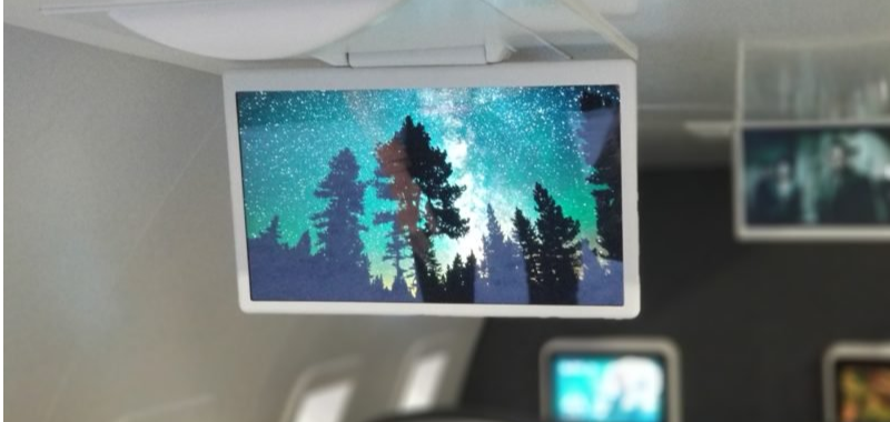 Burrana introduces next generation 4K overhead inflight entertainment